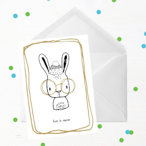 Let It Snow Rabbit Greetings Card