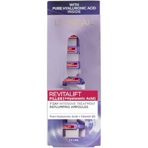 L'Oréal Paris Revitalift Filler with Hyaluronic Acid Replumping Ampoules 7 x 1.3ml