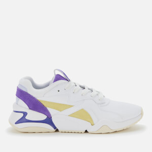 Puma Women's Nova Pop Trainers - Puma White/Purple Corallites/Sunny Lime