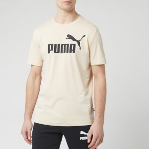 Puma Men's Essentials Logo Short Sleeve T-Shirt - Tapioca