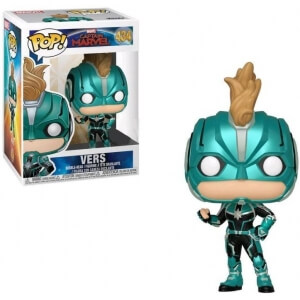 Figura Funko Pop! Exclusivo - Vers Sin Casco - Marvel: Capitana Marvel