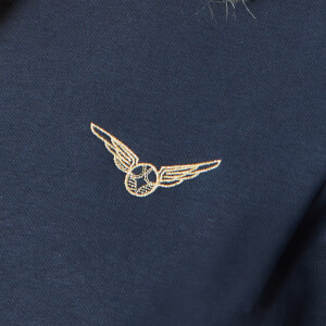 Harry Potter Golden Snitch Unisex Embroidered Hoodie - Navy