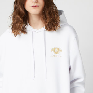 Sweat à capuche Unisexe Harry Potter Slytherin Brodé - Blanc