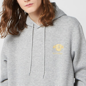 Sweat à capuche Unisexe Harry Potter Slytherin Brodé - Gris