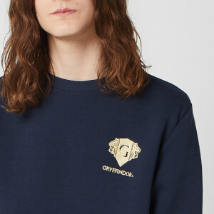 Harry Potter Gryffindor Unisex Embroidered Sweatshirt - Navy