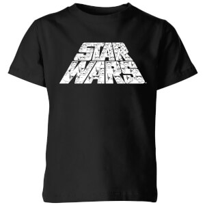 Star Wars The Rise Of Skywalker Trooper Filled Logo Kids' T-Shirt - Black
