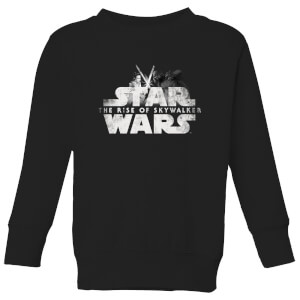 Star Wars The Rise Of Skywalker Rey + Kylo Battle Kids' Sweatshirt - Black