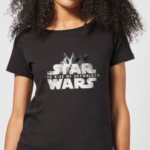 Star Wars The Rise Of Skywalker Star Wars IX Rey Kylo Battle Women's T-Shirt - Black