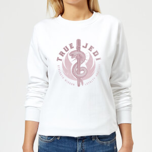 Star Wars The Rise Of Skywalker True Jedi White Women's Sweatshirt - White