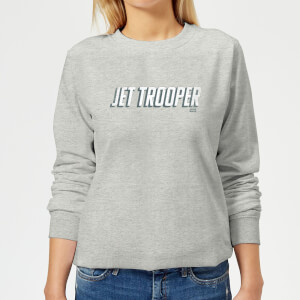 Star Wars The Rise Of Skywalker Jet Trooper Women's Sweatshirt - Grey