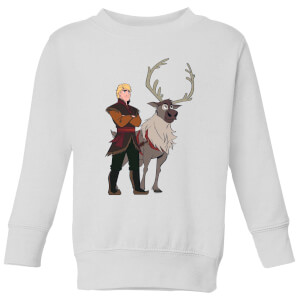 Frozen 2 Sven And Kristoff Kids' Sweatshirt - White