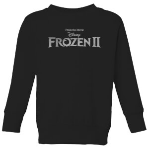 Frozen 2 Title Silver Kids' Sweatshirt - Black