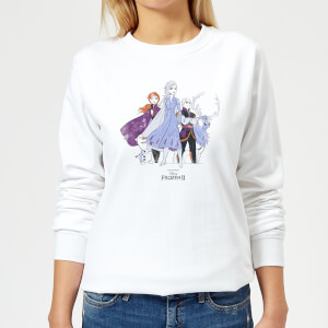 Frozen 2 Group Shot Women's Sweatshirt - White