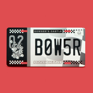 Mario Kart Bowser Limited Edition Metal Number Plate