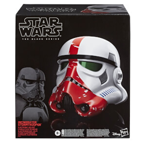 Hasbro Star Wars The Black Series The Mandalorian Incinerator Stormtrooper Electronic Voice-Changer Helmet Prop Replica