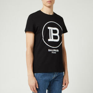 Balmain Men's Large Coin Flock T-Shirt - Noir