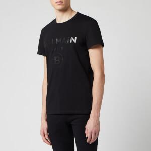 Balmain Men's Silver Mirror T-Shirt - Noir