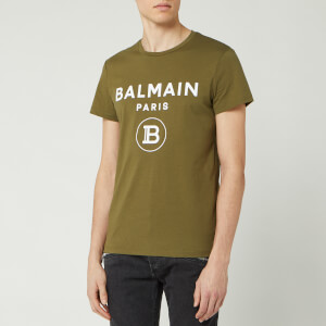 Balmain Men's Small Coin Flock T-Shirt - Khaki