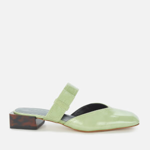 Ganni Women's Strappy Flat Mules - Patina Green