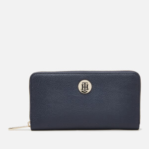 Tommy Hilfiger Women's Core Large Zip Around Wallet - Sky Captain