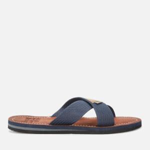 Barbour Men's Ash Cross Slide Sandals - Navy