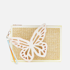 Sophia Webster Women's Flossy Butterfly Pouchette Bag - White/Neutral