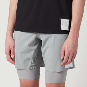 Satisfy Men's Justice Trail Long Distance 10 Inch Shorts - Air Frost