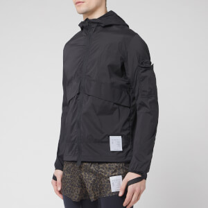 Satisfy Men's Packable Windbreaker Jacket - Black Silk