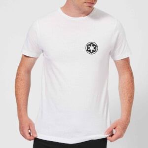 The Mandalorian Galactic Empire Insignia Breast Print Men's T-Shirt - White