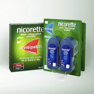 NICORETTE® InvisiPatch & NICORETTE® Lozenge (less than 10 Cigarettes)