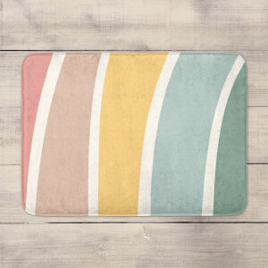 Rainbow Hand Drawn Rainbow Bath Mat