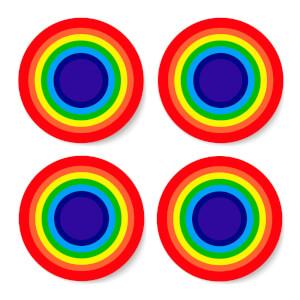 Rainbow Classic Rainbow Coaster Set