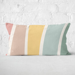 Rainbow Light Stripes Rectangular Cushion