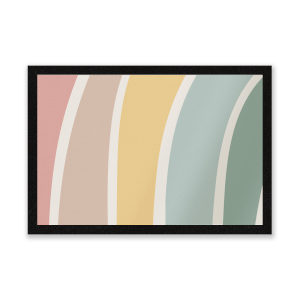 Rainbow Soft Stripes Entrance Mat