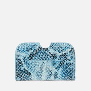 Núnoo Women's Carla Snake Wallet - Blue