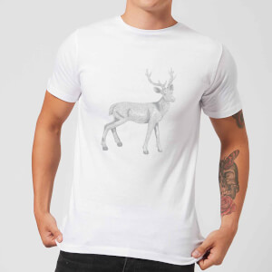 Glitter Stag Men's T-Shirt - White