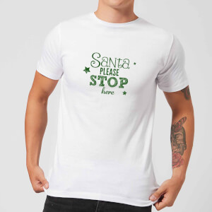 Santa Stop Men's T-Shirt - White