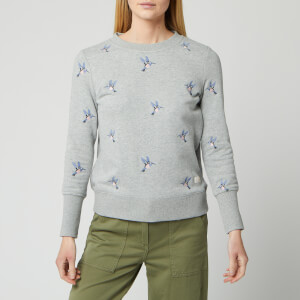Barbour Women's Modern Country Fell Overlayer Sweater - Light Grey Marl