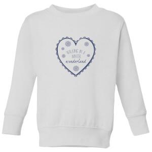 Walking Wonder land Kids' Sweatshirt - White
