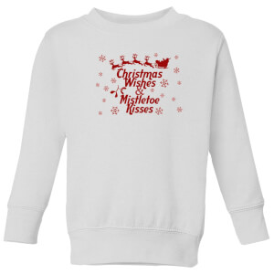 Christmas wishes Kids' Sweatshirt - White