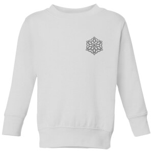 Snow flake Kids' Sweatshirt - White