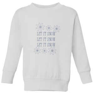 Let it Snow Kids' Sweatshirt - White