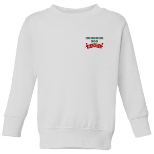 Waiting for Santa Kids' Sweatshirt - White