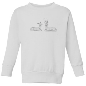 Glitter Stags Kids' Sweatshirt - White