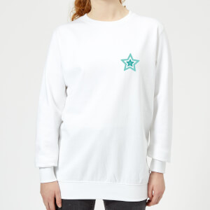 Pocket Star Women's Sweatshirt - White