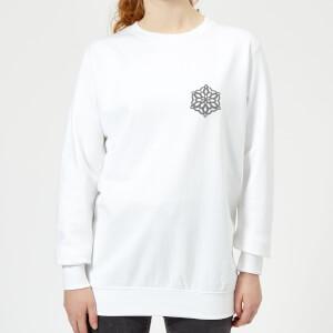 Snow flake Women's Sweatshirt - White