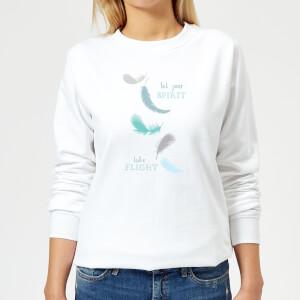 Spirit Flight Women's Sweatshirt - White