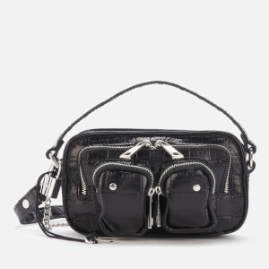 Núnoo Women's Helena Croco Cross Body Bag - Black