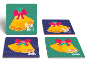 Jingle Bells Square Coaster Set