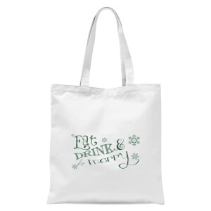 Eat and Drink Tote Bag - White